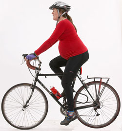 Pregnant cycling