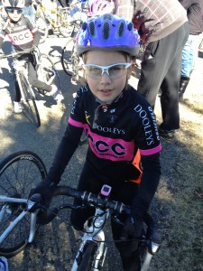 Ava just before a road race