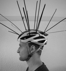 Cable ties helmet