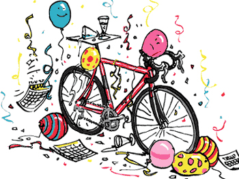 Happy New Year bike