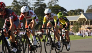 Members of the team in action in the TDU women's series