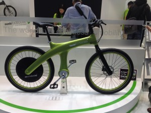 Mondo e-bike - this one just looked so good and it doesn't have a chain for your clothes to get caught.