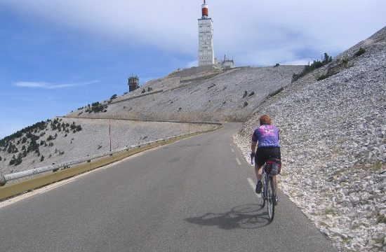 climbing hills on a road bike