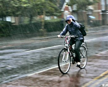 avoid riding my road bike in the rain