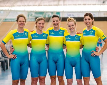 women of the Australian Commonwealth Games Cycling team