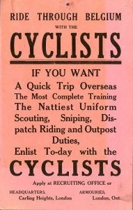 the role of the humble bicycle in the First World War